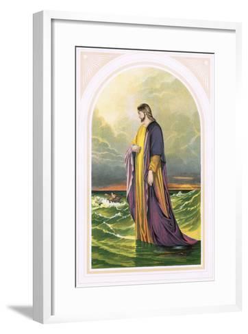 Christ Walking on the Sea-English-Framed Art Print