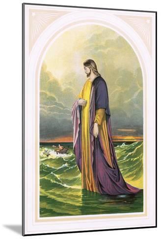Christ Walking on the Sea-English-Mounted Giclee Print
