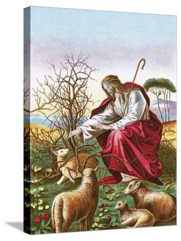 The Good Shepherd-English-Stretched Canvas Print