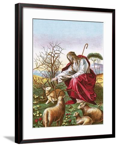 The Good Shepherd-English-Framed Art Print