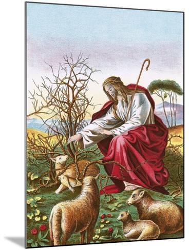 The Good Shepherd-English-Mounted Giclee Print