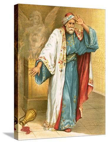 Uzziah Smitten with Leprosy-English-Stretched Canvas Print