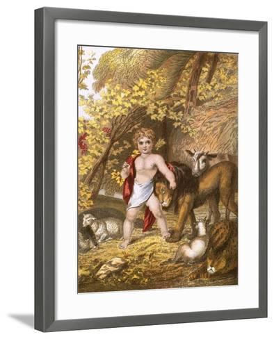 The Peaceable Kingdom-English-Framed Art Print