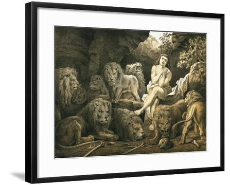 Daniel in the Lion's Den-English-Framed Art Print