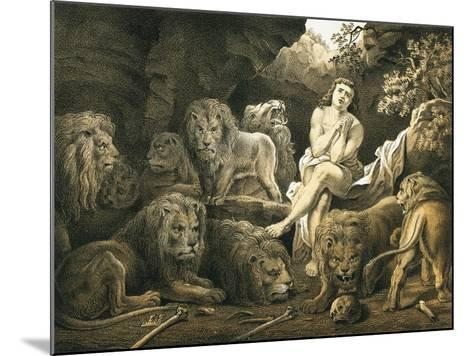 Daniel in the Lion's Den-English-Mounted Giclee Print