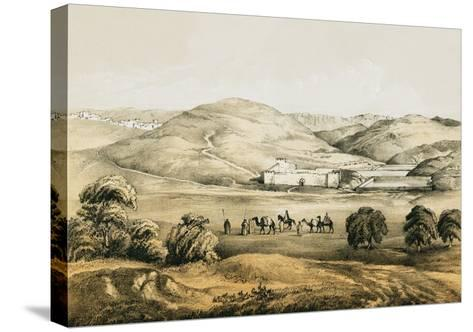 Pools of Solomon with Distant View of Bethlehem-English-Stretched Canvas Print