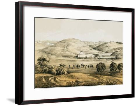 Pools of Solomon with Distant View of Bethlehem-English-Framed Art Print