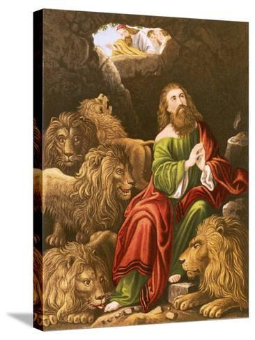Daniel in the Den of Lions-English-Stretched Canvas Print