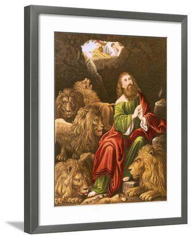 Daniel in the Den of Lions-English-Framed Art Print