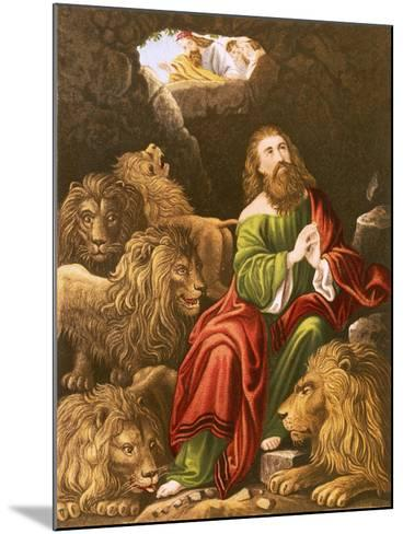 Daniel in the Den of Lions-English-Mounted Giclee Print