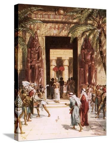 Moses and Aaron before Pharaoh-William Brassey Hole-Stretched Canvas Print