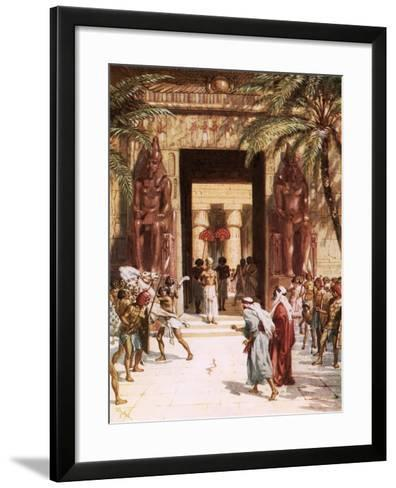 Moses and Aaron before Pharaoh-William Brassey Hole-Framed Art Print