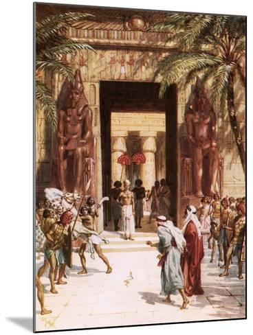 Moses and Aaron before Pharaoh-William Brassey Hole-Mounted Giclee Print