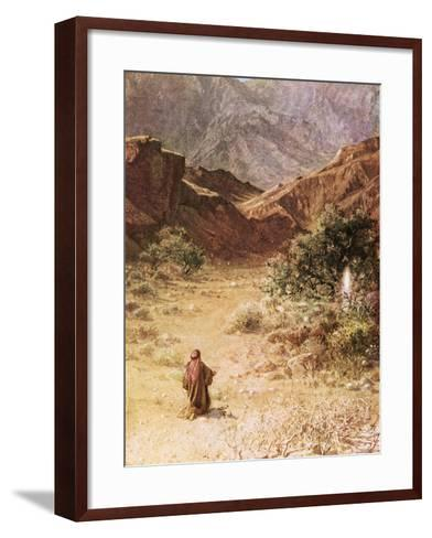 Moses and the Burning Bush-William Brassey Hole-Framed Art Print