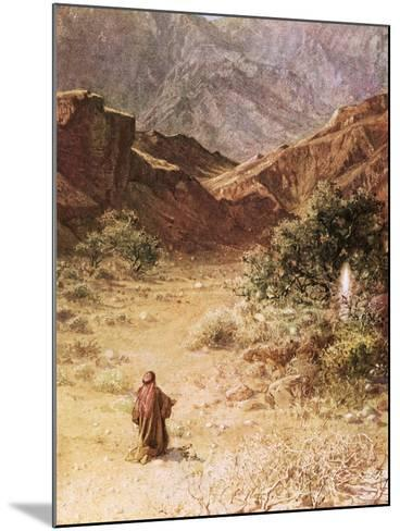 Moses and the Burning Bush-William Brassey Hole-Mounted Giclee Print
