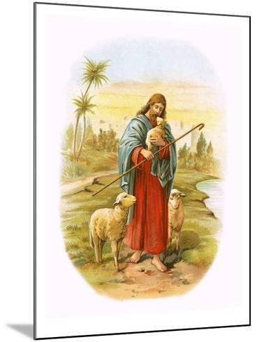Jesus, the Good Shepherd-English-Mounted Giclee Print