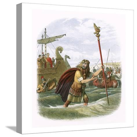 Julius Caesar's Invasion Attempt in 55 Bc-James E. Doyle-Stretched Canvas Print