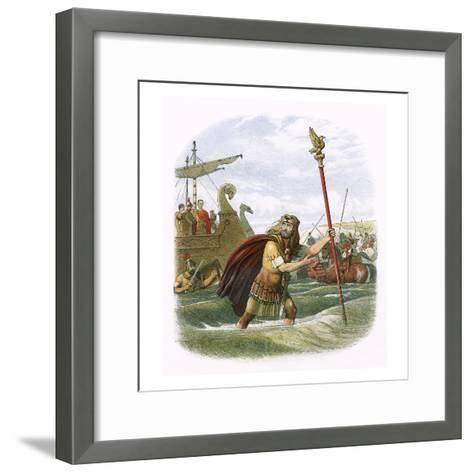 Julius Caesar's Invasion Attempt in 55 Bc-James E. Doyle-Framed Art Print