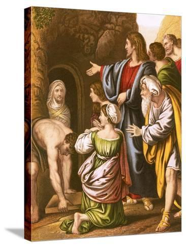 Lazarus Raised from the Dead-English-Stretched Canvas Print