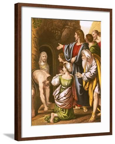 Lazarus Raised from the Dead-English-Framed Art Print