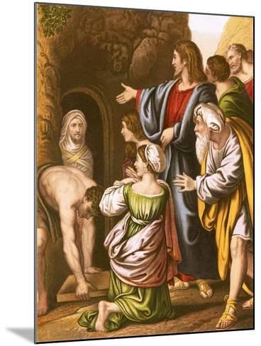 Lazarus Raised from the Dead-English-Mounted Giclee Print