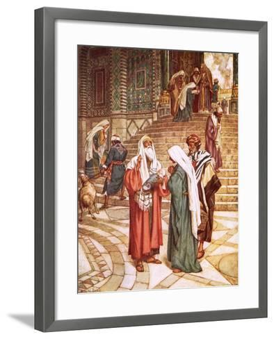 The Child Jesus Brought to the Temple and Recognised by Simeon as the Saviour-William Brassey Hole-Framed Art Print