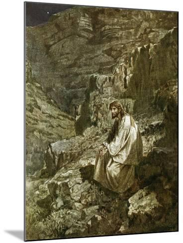 Forty Days in the Wilderness, Tempted by Satan-William Brassey Hole-Mounted Giclee Print