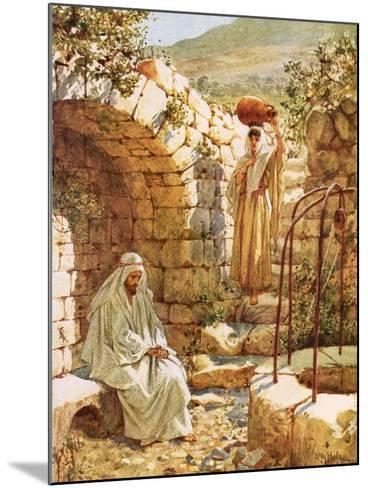 Jesus Resting by Jacob's Well-William Brassey Hole-Mounted Giclee Print