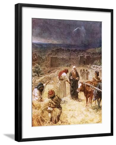 King David Purchasing the Threshing Floor-William Brassey Hole-Framed Art Print