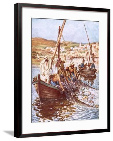 A Great Multitude of Fishes-William Brassey Hole-Framed Art Print