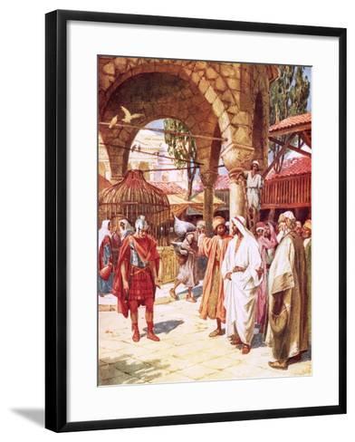 The Centurion Beseeching Jesus on Behalf of His Servant-William Brassey Hole-Framed Art Print