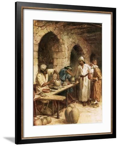 Jeremiah and the Potter-William Brassey Hole-Framed Art Print