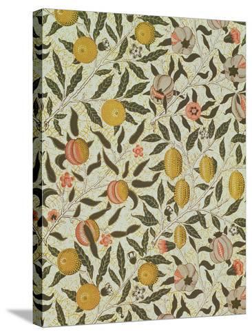 Fruit or Pomegranate Wallpaper Design-William Morris-Stretched Canvas Print