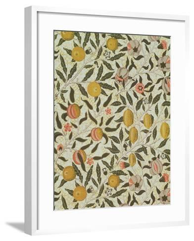 Fruit or Pomegranate Wallpaper Design-William Morris-Framed Art Print