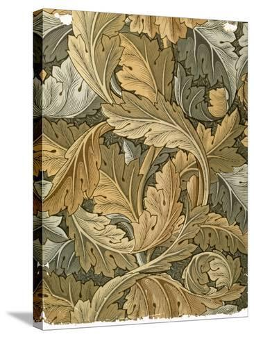Acanthus Wallpaper, Designed by William Morris (1834-96), 1875--Stretched Canvas Print