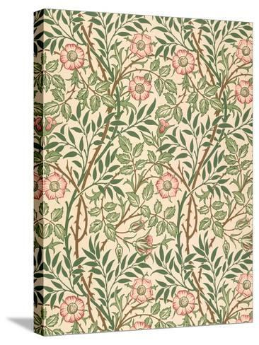 sweet Briar' Design for Wallpaper, Printed by John Henry Dearle (1860-1932) 1917-William Morris-Stretched Canvas Print