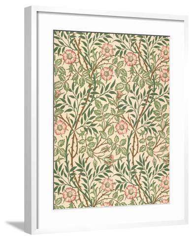 sweet Briar' Design for Wallpaper, Printed by John Henry Dearle (1860-1932) 1917-William Morris-Framed Art Print