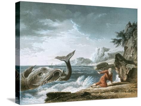 Jonah Having Been Vomited Out by the Whale onto Dry Land-Claude Joseph Vernet-Stretched Canvas Print