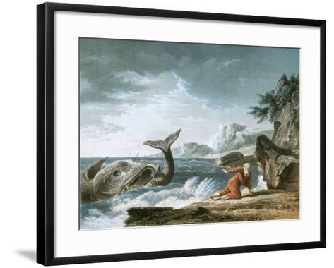 Jonah Having Been Vomited Out by the Whale onto Dry Land-Claude Joseph Vernet-Framed Art Print