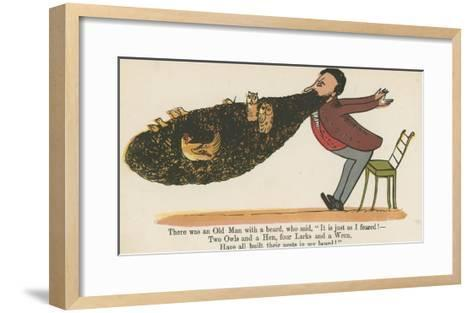There Was an Old Man with a Beard, Who Said, 'It Is Just as I Feared!'-Edward Lear-Framed Art Print