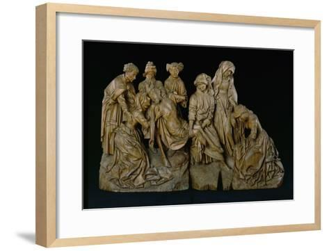 The Lamentation, 1460 (Oak with Traces of Polychromy)- Master of the Arenberg Lamentation-Framed Art Print
