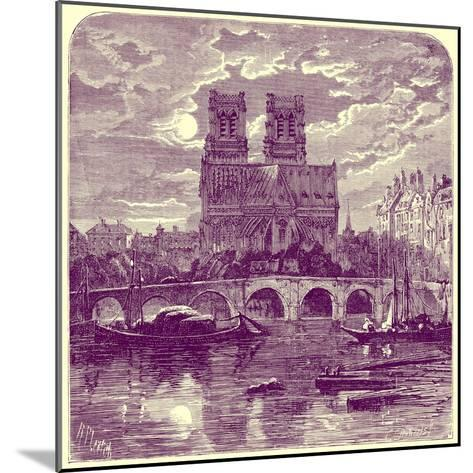 Cathedral of Notre Dame, Illustration from 'French Pictures' by Samuel Green, Published 1878-Richard Principal Leitch-Mounted Giclee Print