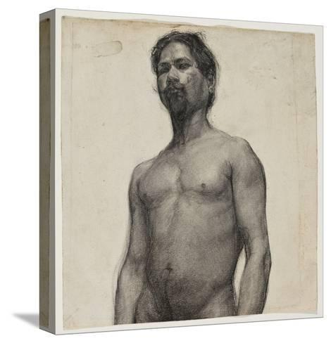 Study of a Negro Man. C.1891 (Charcoal and Pastel on Cream Laid Paper)-Henry Ossawa Tanner-Stretched Canvas Print