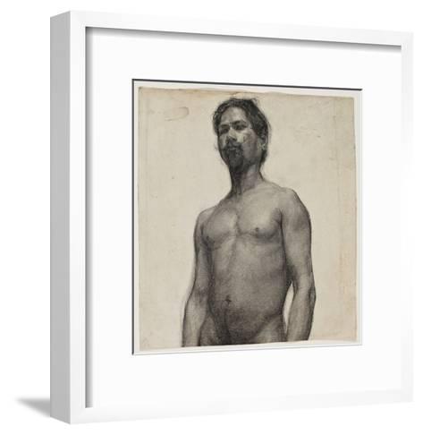 Study of a Negro Man. C.1891 (Charcoal and Pastel on Cream Laid Paper)-Henry Ossawa Tanner-Framed Art Print