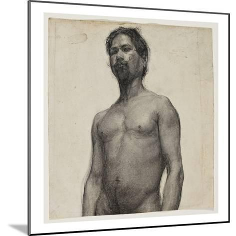 Study of a Negro Man. C.1891 (Charcoal and Pastel on Cream Laid Paper)-Henry Ossawa Tanner-Mounted Giclee Print