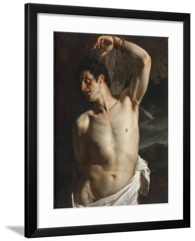 St. Sebastian-Hippolyte Delaroche-Framed Art Print