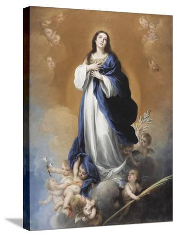 The Immaculate Conception-Bartolome Esteban Murillo-Stretched Canvas Print