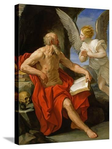 Angel Appearing to St. Jerome, c.1640-Guido Reni-Stretched Canvas Print