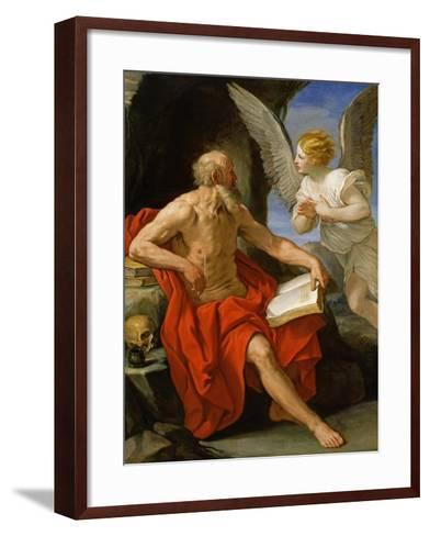 Angel Appearing to St. Jerome, c.1640-Guido Reni-Framed Art Print