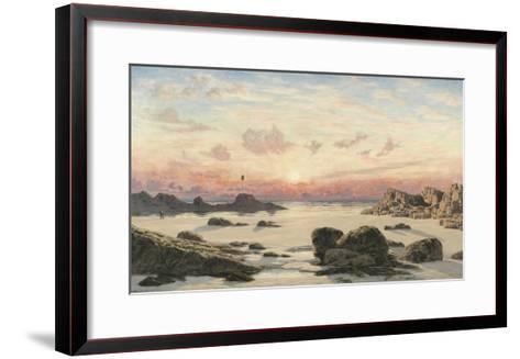 Bude Sands at Sunset, 1874-John Brett-Framed Art Print